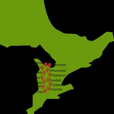 Ontario canada map